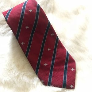 BURBERRY London Tie All Over Stripe & Knight Silk
